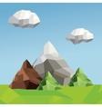 Mountain icon Polygonal image graphic vector image