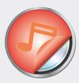 musical notes logo vector image
