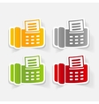 realistic design element fax vector image