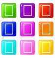 sketchbook icons 9 set vector image