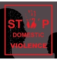 Stop domestic violence vector image