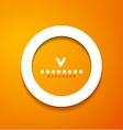 White paper circle on orange background vector image