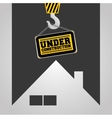 real state house under construction sign hanging vector image