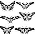 set of beautiful butterflies vector image vector image