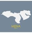 Mena Region Map vector image vector image