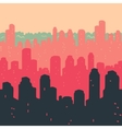 Seamless Pattern The City Buildings vector image vector image