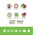 Abstract logo design icon set vector image
