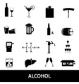 alcohol icons set eps10 vector image