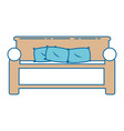comfortable bed isolated icon vector image
