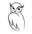 Doodle sketch of wise owl vector image
