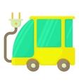 Eco car icon cartoon style vector image