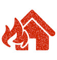 Fire damage grunge icon vector image