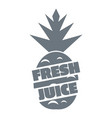 fresh exotic juice logo simple style vector image