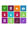 Hospital icons on color background vector image