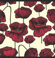 red poppies on a light background seamless vector image