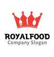 Royal Food Design vector image