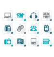 stylized electronics media technical equipment vector image