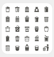 Trash icons set vector image