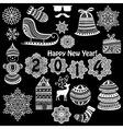Vintage Christmas highly detailed design elements vector image