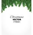 Background with christmas tree branches and vector image vector image