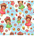 happy sweet pattern vector image vector image
