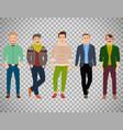 confident fashion man on transparent background vector image