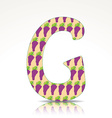 The letter G of the alphabet made of Grape vector image