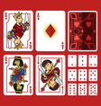 Diamond Suit Playing Cards Full Set vector image