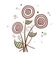 cartoon hand draw flower vector image
