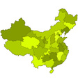 China contour map vector image