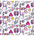 fun doodles icons seamless pattern vector image