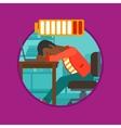 Man sleeping on workplace vector image