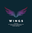 modern colored logo wings vector image