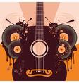Retro Guitar Poster2 vector image