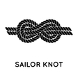 Sailor rope knot vector image