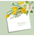 Spring Blossom Background - with Card for Text vector image