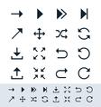 Arrow symbol icon set simplicity theme vector image vector image