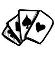 Game cards fast doodle sketch vector image