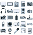 Modern electronic icons vector image