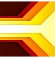 Abstract red orange and yellow paper triangle vector image