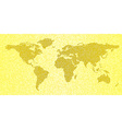 Map of the world yellow abstract travel background vector image