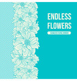 Hand-drawn flowers of dahlia seamless border vector image