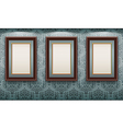 wooden frames on the wall vector image vector image