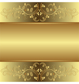 golden background with floral ornaments vector image vector image