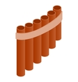 Pan flute icon isometric 3d style vector image