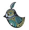 Cute decorative bird vector image