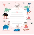 Cute Calendar Daily Planner Template vector image