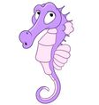 cute cartoon seahorse vector image
