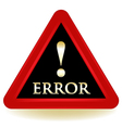 Error Sign vector image