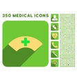Medical Visor Icon and Medical Longshadow Icon Set vector image